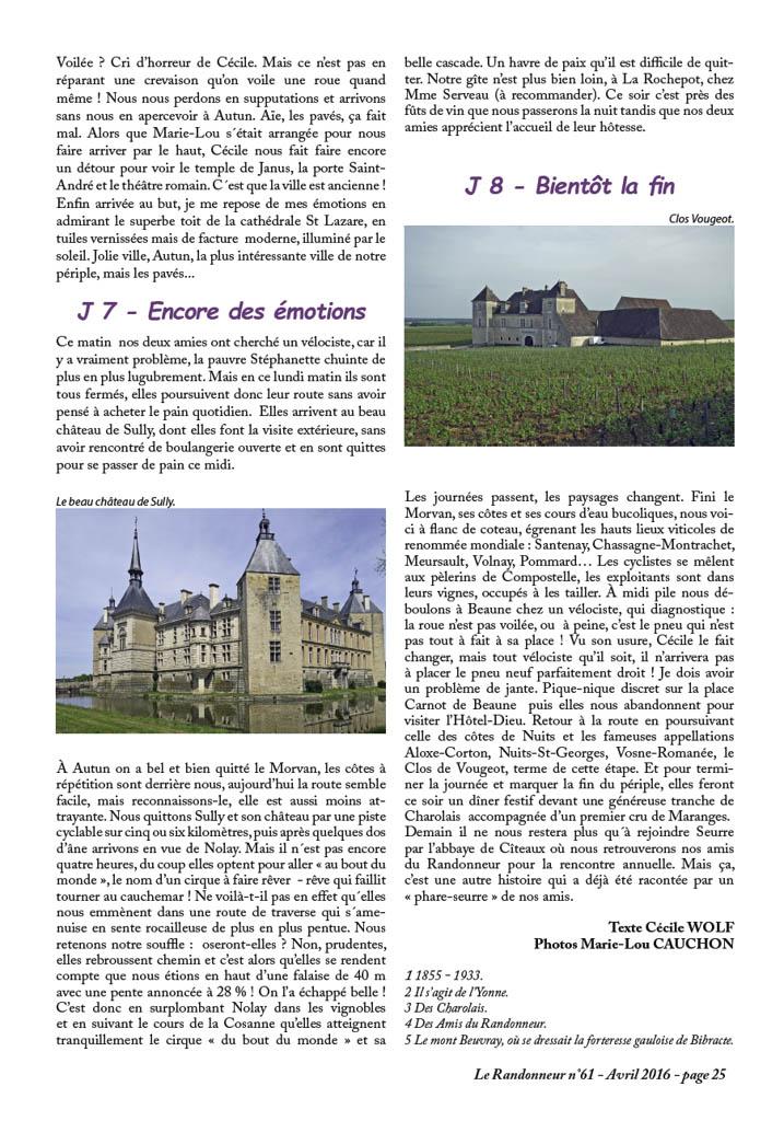 Voyage à vélo en Bourgogne