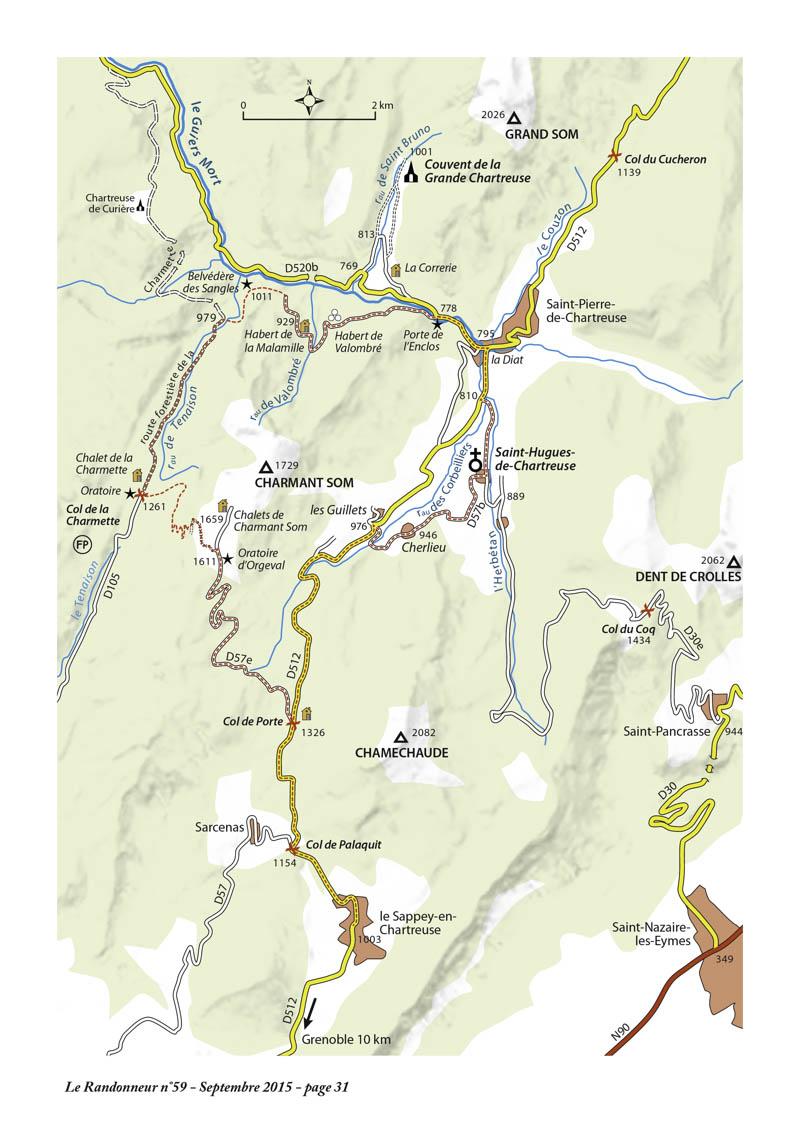 Itinéraire à vélo en Chartreuse