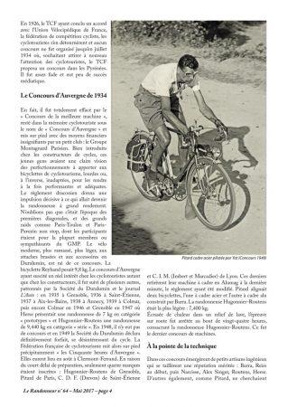 Les concours techniques cyclotouristiques
